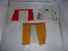 3 x alte Gardine-geeignet für Lundby-Lisa-Puppenhaus-Puppenstube-1:18