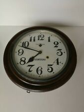 Antique Seikosha Japan Gallery Wall Clock Art-Deco w/ pendulum * Untested