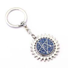 Black Butler Ciel Pentagram Cosplay Keychain Kuroshitsuji Anime Key Ring