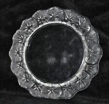 """Vintage Signed Lalique Frosted Honfleur Begonia Geranium Leaf Plate 8.5"""" Salad"""