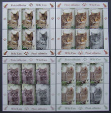 Romania,2014-Wild cats,4 M/Sh. MNH, RO467