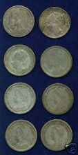 NETHERLANDS  10 CENTS SILVER COINS: 1915-1941, LOT OF 8