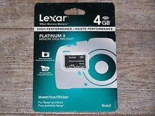 Lexar 4GB Platinum II Memory Stick Pro Duo Memory Card MARK 2 NEW