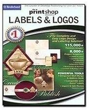 Print Shop Elements: Labels and Logos (PC) *new,sealed*
