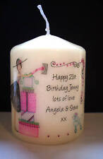 personalised 30th 40th birthday candle present keepsake gift celebration party