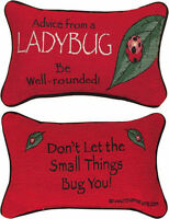 DECORATIVE PILLOWS - ADVICE FROM A LADYBUG REVERSIBLE PILLOW