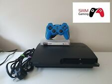 Sony PlayStation 3 Slim 120GB Charcoal Black Console plus Games and Controller.