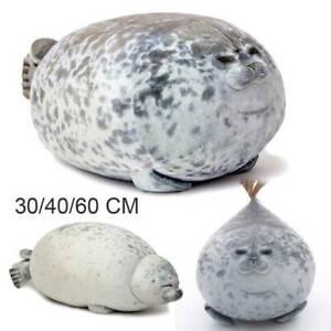 Osaka Aquarium Chubby Seal Plush Pillow Cute Fat Stuffed Ocean Animal Kids Gift