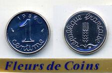 FDC : Pièce de 1 centime épi 1986 neuve/scellée du coffret