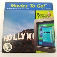 "Vintage Movies To Go Software Database 3.5"" IBM Imagicsoft VCR Companion 3 1/2"