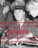 ELVIS PRESLEY in the Army 1960 11x14 Photo RAY BARRACKS - FRIEDBERG GERMANY