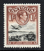 Antigua 1/- Stamp c1938-51 Mounted Mint Hinged (3500)