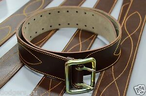 New Original Russian Army Uniform Military Officer Leather Belt, Brown