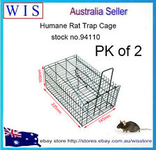2xGalvanised Mesh Wire Humane Safe Rat&Mouse Trap Single Live Catch Mice-94110