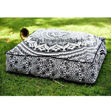 """India Large Ombre Square Floor Pillow Meditation Cushion Cover Ottoman Pouf 35"""""""