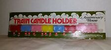 Vintage Train Birthday Cake Topper Train Candle Holders seven engine w/ 6 cars
