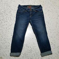 Arizona Juniors Denim Capri Blue Jeans ~ Sz 9 ~ Dark