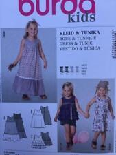 Burda Sewing Pattern 9494 Girls Toddlers Fitted Dress Tunic Size 18m-6 Uncut