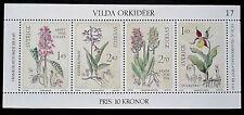 Sweden 1982 Wild Orchids Mini Sheet. MNH.