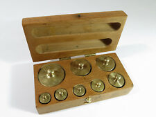 Restored Complete Antique Laboratory/Apothecary Metric Weight Set—Maple Box