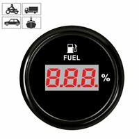 Universal 52mm Waterproof Digital Fuel Level Gauge Meter for Car Truck 240-33ohm
