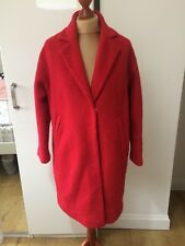 Ladies Warehouse Red Wool Blend Coat Size Uk 12