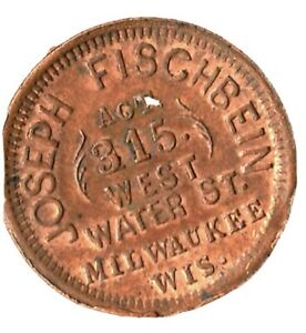 milwaukee, wisc civil war store card chice red and brown