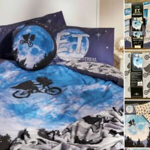 Primark E.T The Extra Terrestrial Double Reversible Duvet Cover Bedding Set New!