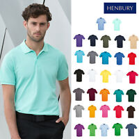 Henbury Modern Fit Collared Short Sleeve Polo Shirt H101 - Men's Casual T-Shirt