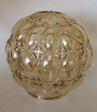 VTG  Glass Lamp Globe Shade Ceiling Fixture Pale Amber
