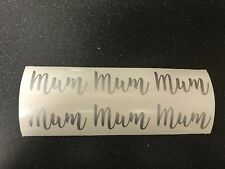 6 X Mum DIY Mother's Day Vinyl Wine Glass Bauble Decals