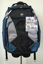 "Swiss gear Pulsar 16"" Laptop iPad/Kindle Backpack Blue, Gray and Black NWT $100"