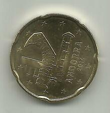 ANDORRA - 20 EURO CENTS 2014 UNCIRCULATED NEW ISSUE. ORIGINAL. 3DG 10FEB