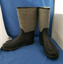 Women's Rain Boots Rubber Shaft and Sole With Faux Fur Lining SIZE 9