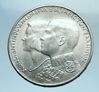 1964 GREECE Marriage Constantine and Anne-Marie Silver 30 Drachmai Coin i77731