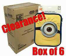 "New Box Lot of 6 Disney Despicable ME Minions 7"" Tablet E-Reader Sleeves"