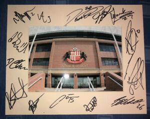 Sunderland AFC 21/22 HAND SIGNED 10x8 MOUNT DISPLAY Signed By 14 Players D