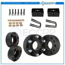 8X 2'' 6x5.5 Wheel Spacers & 3'' Front 2'' Rear Leveling Lift Kit For GMC Sierra