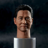 1/6 Scale Actor Chow Yun Fat Head Carved PVC Male Head Model F 12'' Figure Body