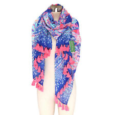NWT Lilly Pulitzer Multi Sunset Safari Engineered Tassle scarf Wrap c16c3d24f607