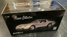 AutoArt Millenium 1:18 Corvette 1978 25th Anniversary Silver Diecast Model 71121