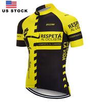 Mens Cycling Jerseys Man Short Sleeve White Cycling Shirt Biking Jersey Top Wear