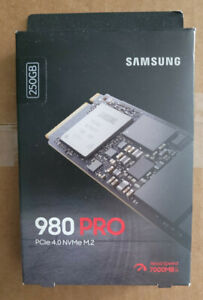 NEW Samsung 980 PRO 250GB Internal NVMe SSD (MZ-V8P250B/AM) OPEN BOX, NEVER USED
