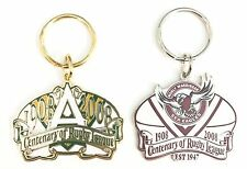 MANLY SEA EAGLES WITH ARL SET OF 2 NRL CENTENARY 1908-2008 KEY RINGS KEYRING
