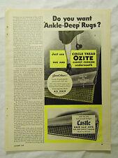 1949 Magazine Ad Page Ozite Carpet Cushion Underwood Deviled Ham Herb-Ox Ad