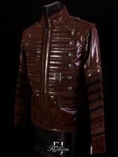 Cappotti e giacche da uomo militare marrone con cerniera