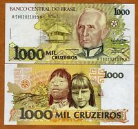 Brazil, 1000 cruzeiros, ND (1990), P-231b, UNC   Native Children