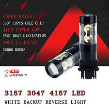 2x 3157 3156 2800lm 50W CREE LED Bulb led back up reversing light 6000k white d4