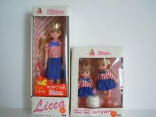 ULTRA RARE SET !! VINTAGE TAKARA LICCA MCDONALD'S DOLLS & MIKI & MAKI MCDONALD'S