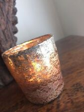 Copper Tea Light Holders Set of 6 Mercury Metallic Ombre Silver Wedding Decor
